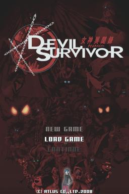 Devil Surviror Title Screen